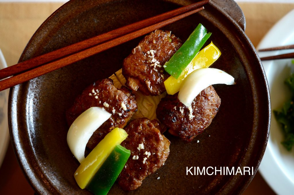 Tteok Kalbi - Royal cuisine style - Korean grilled short rib patties