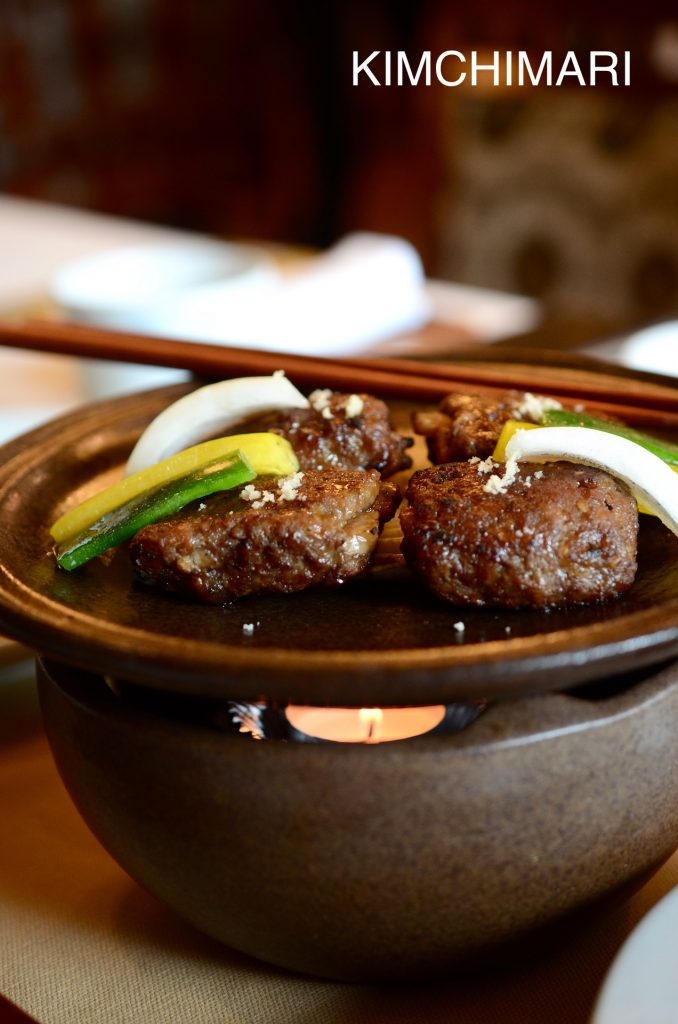 Seoul Restaurant Jihwaja Tteok Kalbi (Grilled short rib patties)