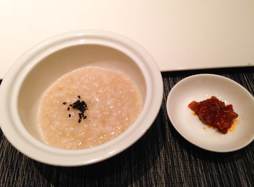 Vegan rice porridge and side dish