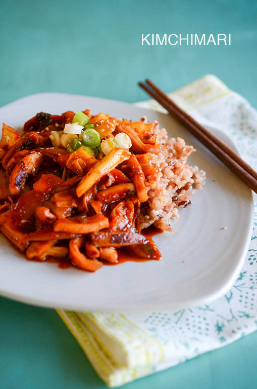 Spicy Squid Stir Fry (Ojingeo Bokkeum)