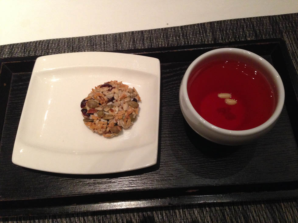 Korean temple food cookie and Omija Tea