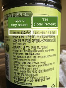 How to read type of soy sauce and T.N. number in Korean soy sauce label