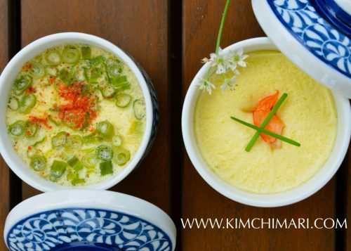 Korean savory egg souffle (gyeran jjim) two ways