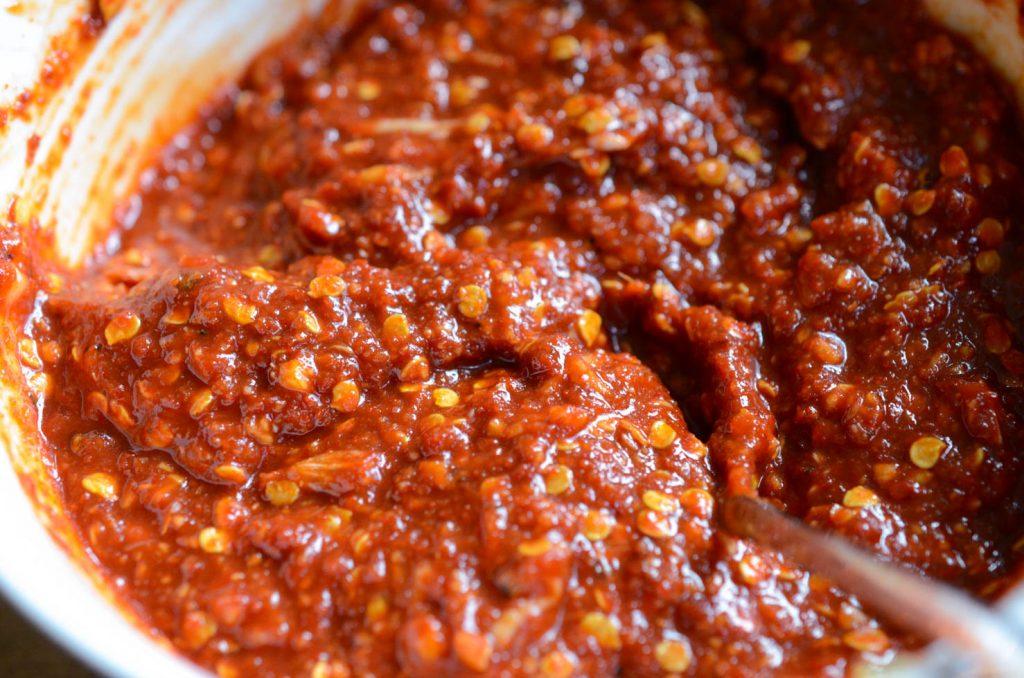 chili seasoning paste for easy kimchi