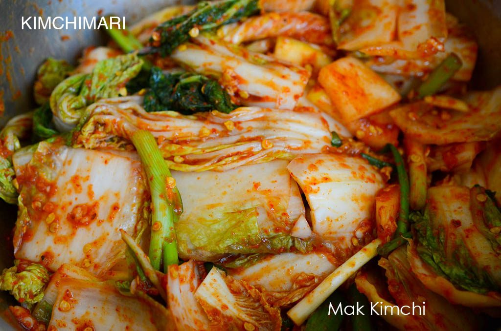 Easy Kimchi mixed