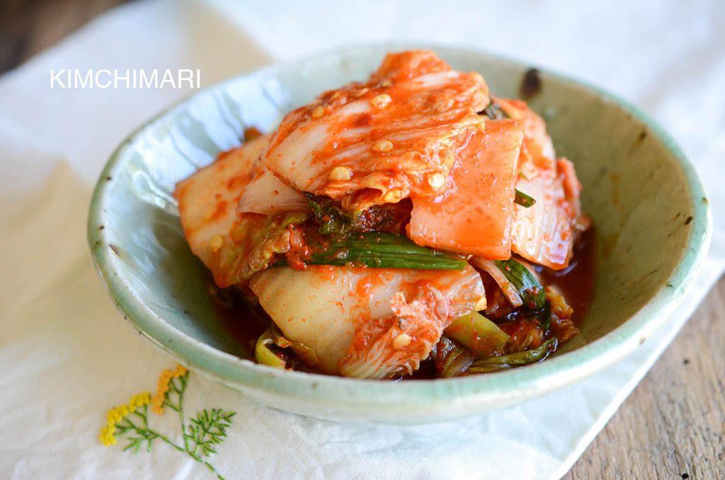 Easy Kimchi with cabbages and radishes (aka Mak Kimchi)