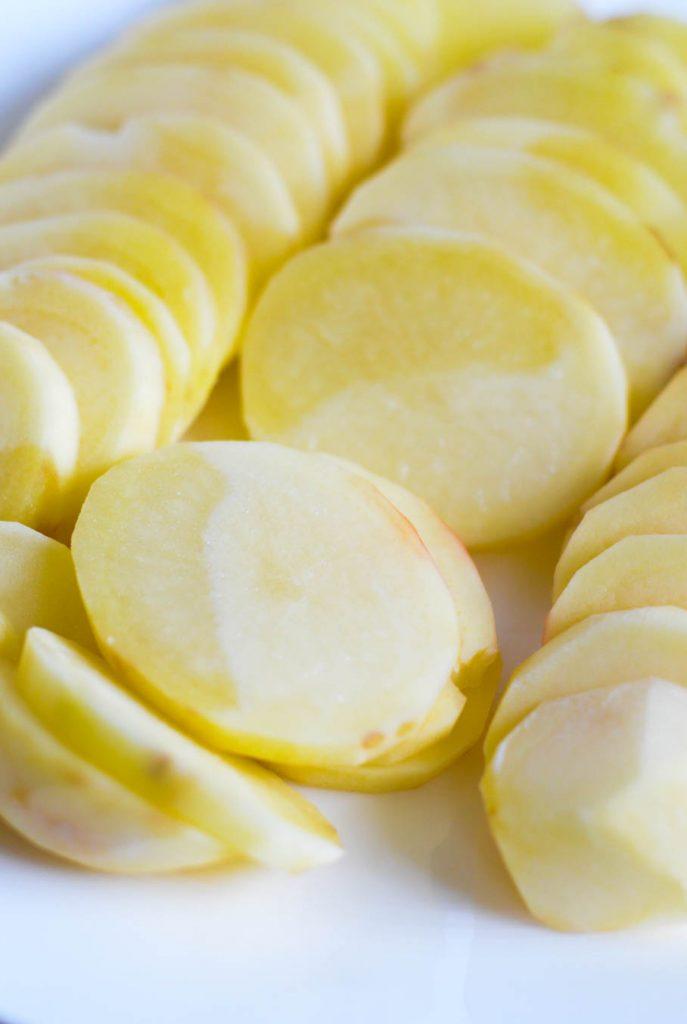 semi-cooked potatoes for potato fritters (gamjajeon)