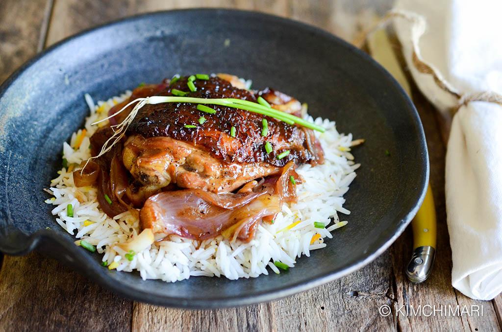 Braised Korean Chicken in Soy Ginger Lemon Sauce (오븐닭 Oven ...