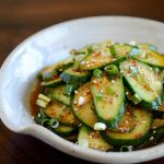 Korean cucumber salad or Oi Muchim(오이무침)