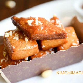 Korean dessert pastry Yakwa or Yakgwa