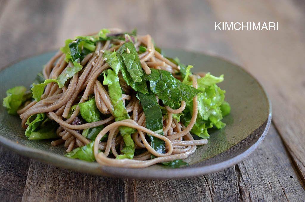 Soba Noodle Salad with Sesame Soy Dressing (Memil Guksu Salad 메밀국수 샐러드)