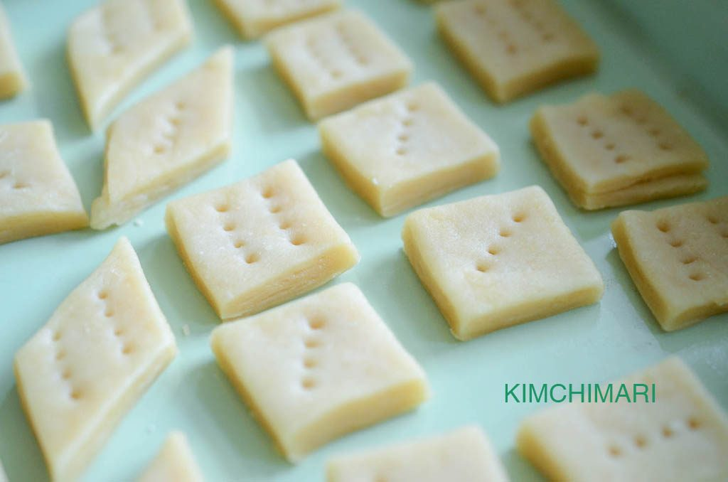 korean honey pastry (yakwa) in baking pan