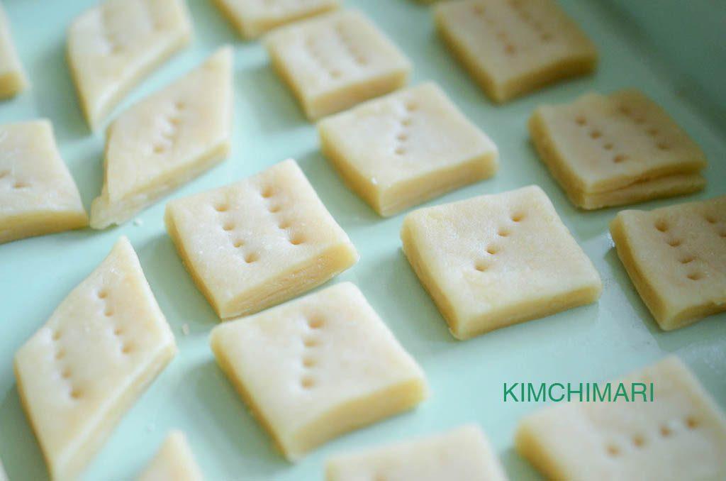 korean honey pastry (yakwa) in baking pan