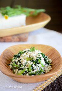 Simple Tofu Recipe with Crown Daisies-Korean Dubu Muchim