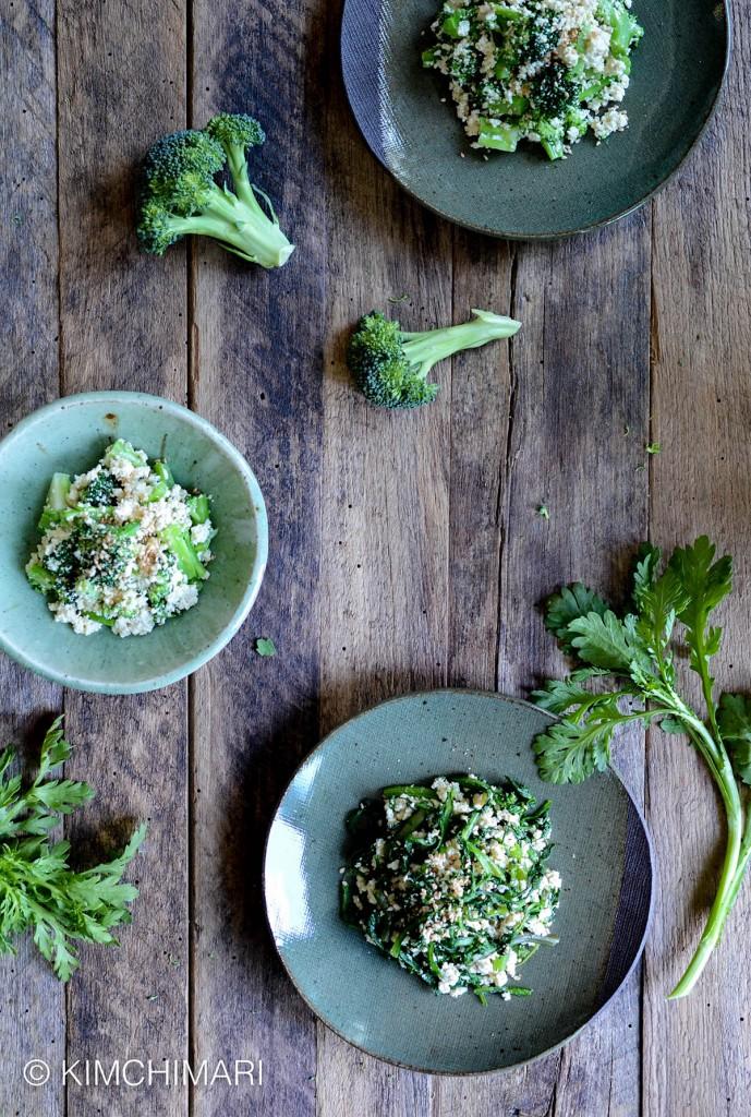 Easy tofu recipe duo with broccoli and ssukgat
