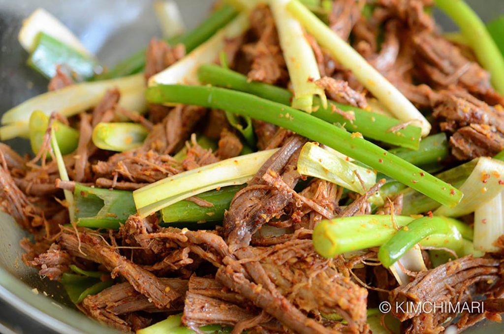 Brisket meat for Yukgaejang seasoned