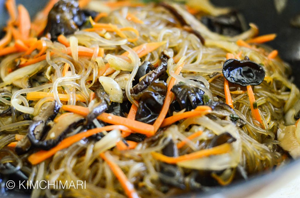 Japchae stir-fry in one pan recipe