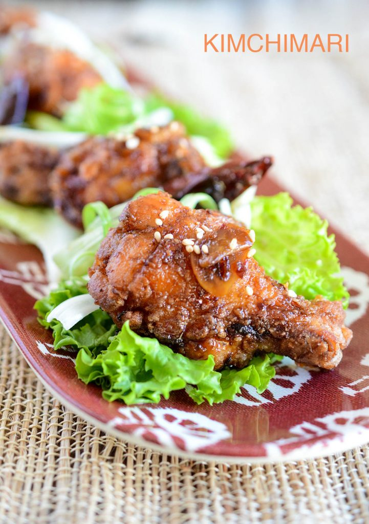 Crispy Korean Fried Chicken with Sweet Garlic Soy Glaze | Kimchimari