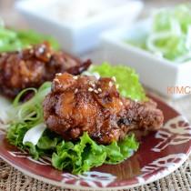Korean Fried Chicken glazed with Sweet Garlic Soy Sauce
