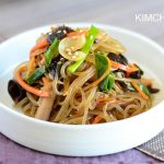 Korean Glass Noodles (잡채 Japchae) Vegan and Gluten Free