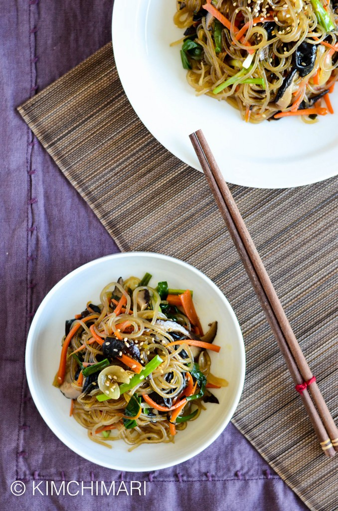 Korean Glass Noodles - simple one pan Japchae