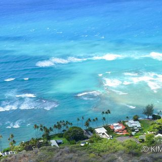 View from Diamond Head Peak, Honolulu