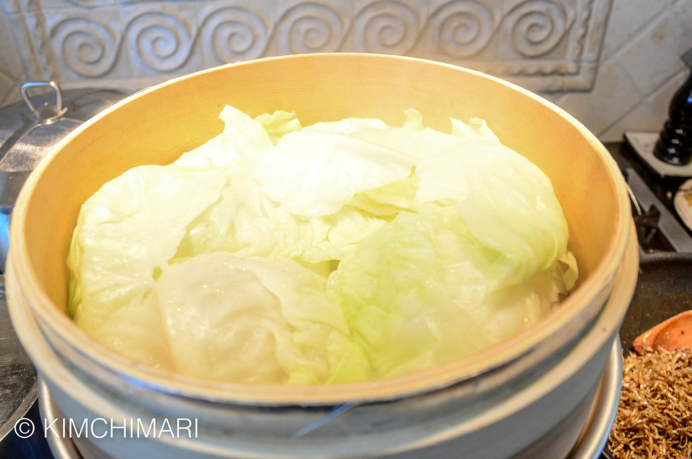 Cabbage steamed for Ssam