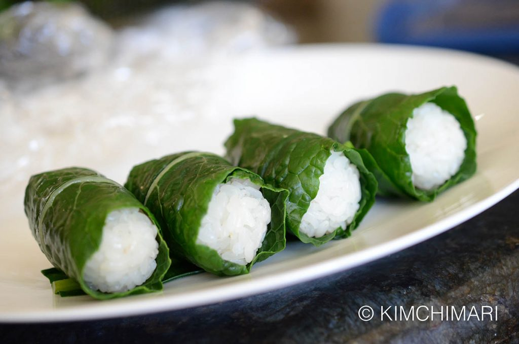 Kale Ssambap Rice Roll