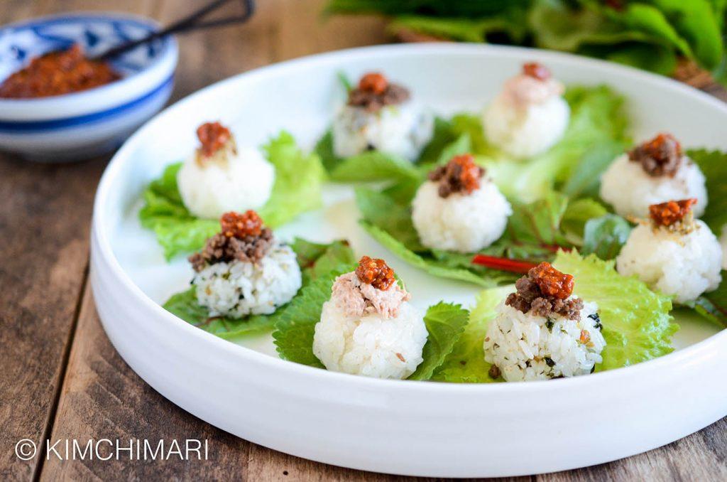 Korean Ssam Lettuce Wrap Platter