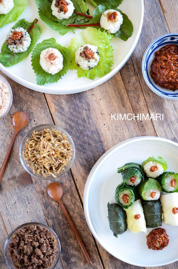 Korean Ssam Lettuce Wrap and Ssambap