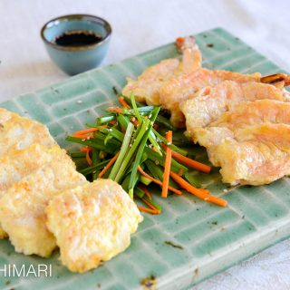 Pan fried Cod and Shrimp Jeon - Korean Seafood Jeon