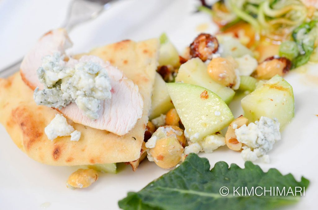 apple chicken salad with hazelnuts