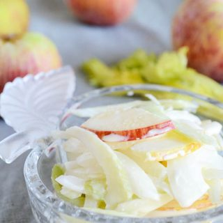 Apple Onion Celery Salad with Creamy Dressing