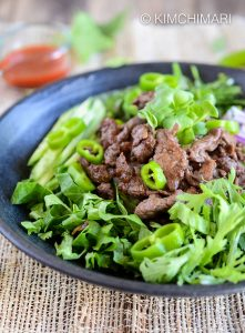 Bulgogi Rice Bowl with Korean Greens