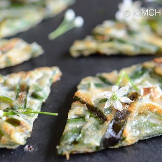 Korean Chive Pancake (Buchujeon) with Chive Flowers!