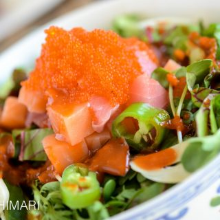 Korean Rice Bowl with Sashimi – Hoedeopbap