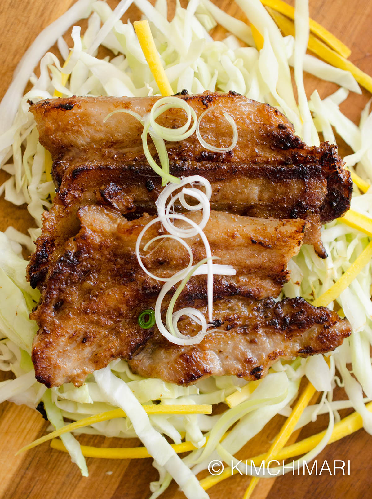 Miso Pork Belly with Green Onions