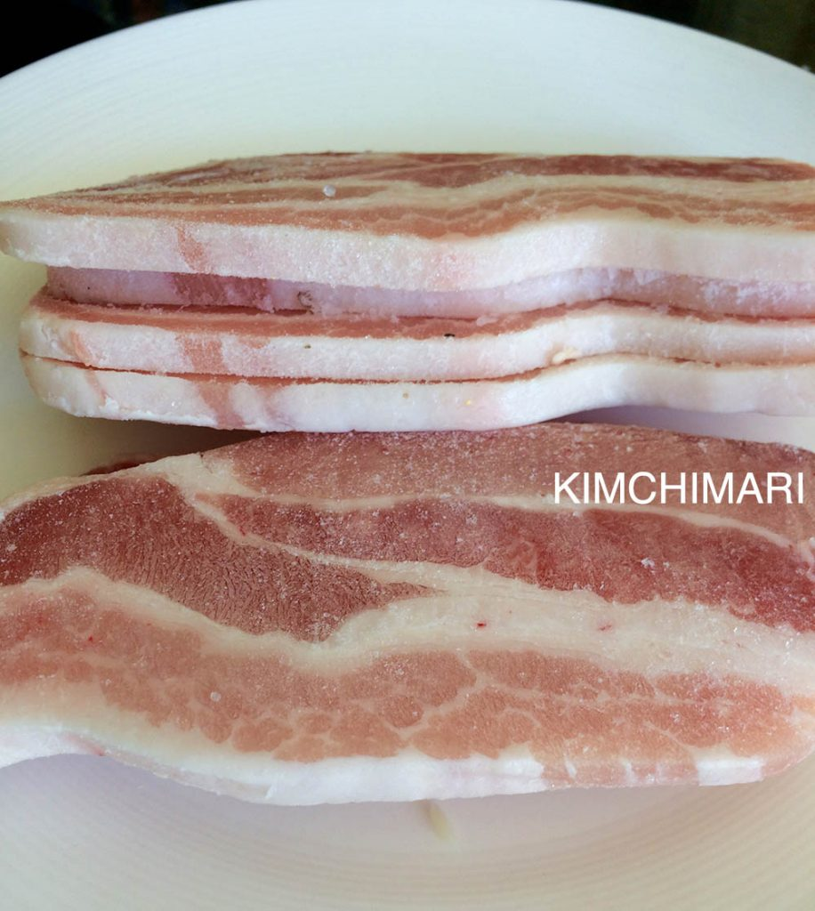 Korean Pork Belly slices for Miso Pork Belly