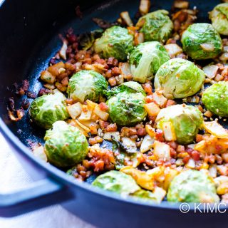 Easy Brussels Sprouts Recipe with Kimchi and Pancetta