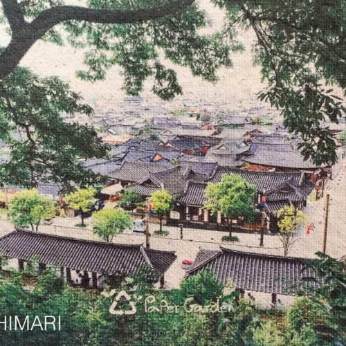 Jeonju Hanok Village Postcard made with recycled paper