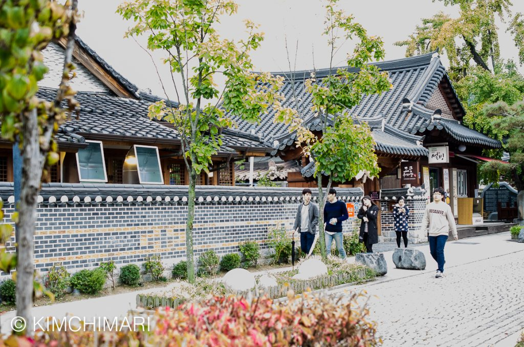 Jeonju Hanok Village homes