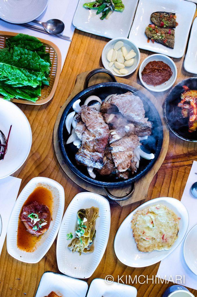 Jeonju Pork Rib BBQ (Dweji Kalbi) at Hanokjip (한옥집)