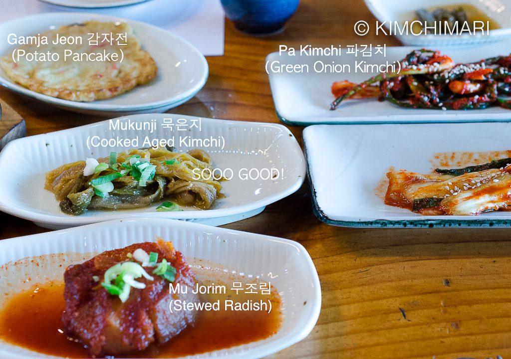 Kimchi Banchan at Jeonju Hanokjip Pork Rib BBQ Restaurant