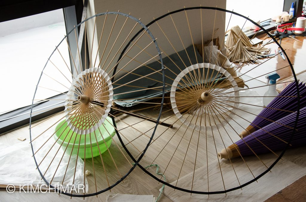 Korean Bamboo Umbrella ribs and stretchers