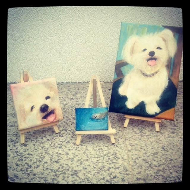 Portraits of my dog Coco by my niece Heyon Cho