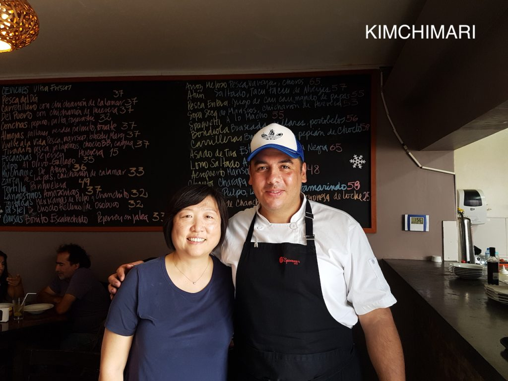 Chef Heine and JinJoo at Catalina 555, Lima serving authentic Peruvian food