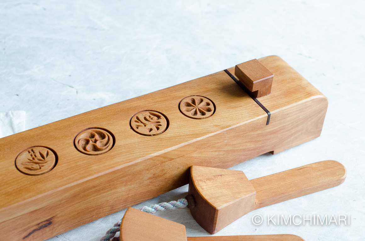 Korean Dasik Mold for Tea Cookies with spacers