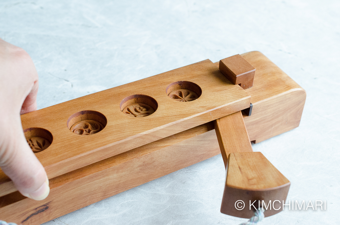 Korean Dasik Mold for tea cookies with spacer inserted