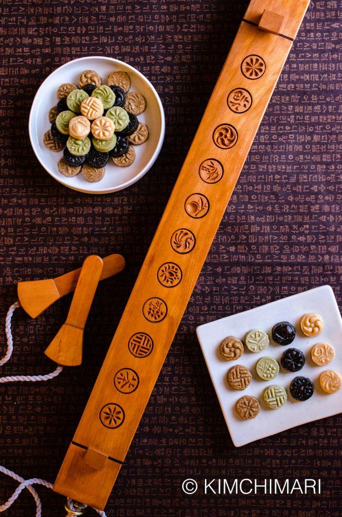 Korean Tea Cookies Dasik with Mold
