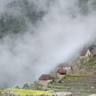 Machu Picchu Terraces and Houses